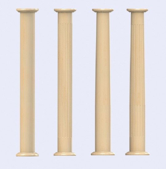 The classic timber column style by bavari designer wood for Decorative structural columns