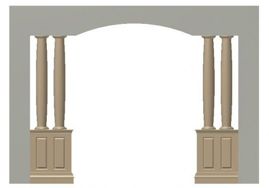 pedestal, columns and pedestal, column assembly ideas, pedestal entrance ways