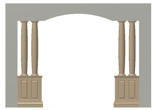 pedestal, columns and pedestal, column assembly ideas, pedestal entrance ways