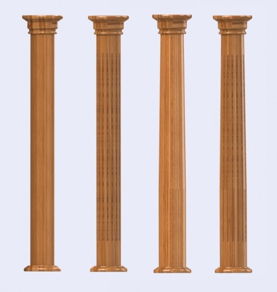 Wooden Columns And Pillars Ornamental Decorative And Load