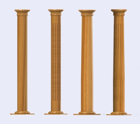 Wooden columns and pillars ornamental decorative and load for Decorative structural columns