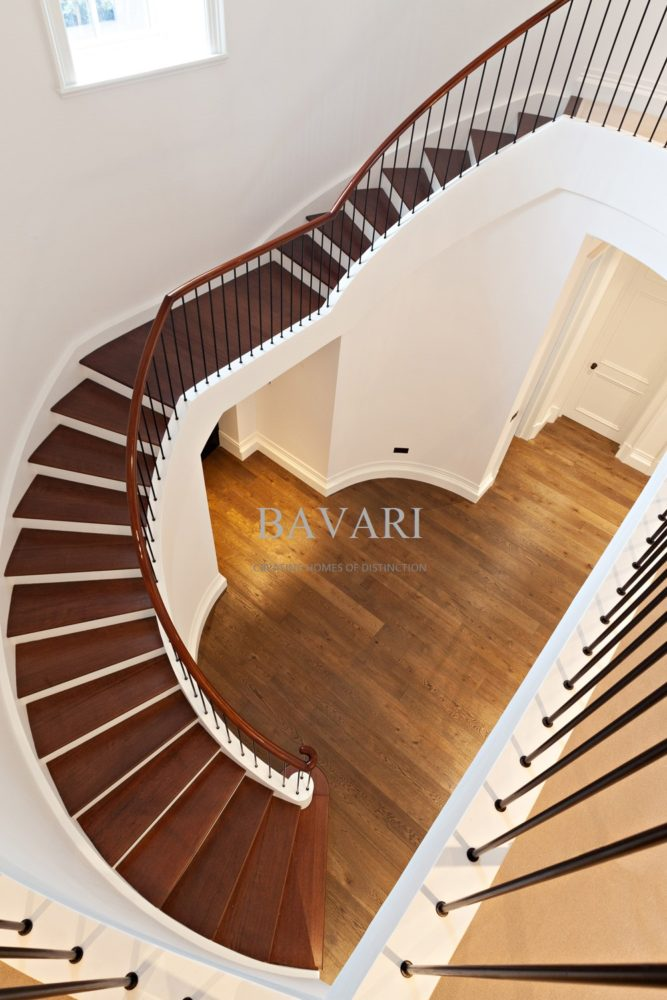 Curved Handrails for Concrete Stairs